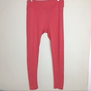 LuLaRoe Tall and Curvy Light Red Leggings
